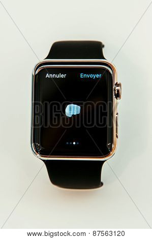 Apple Watch fist emoji
