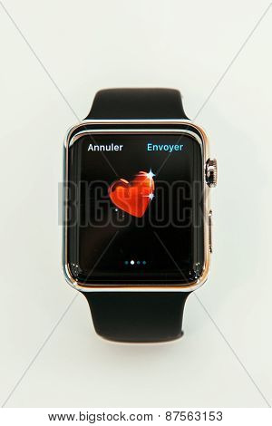 Apple Watch Showing Heart Emoji