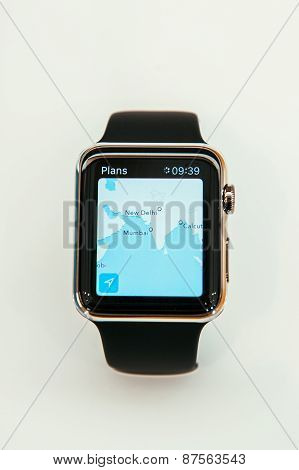Apple Watch showing Maps App