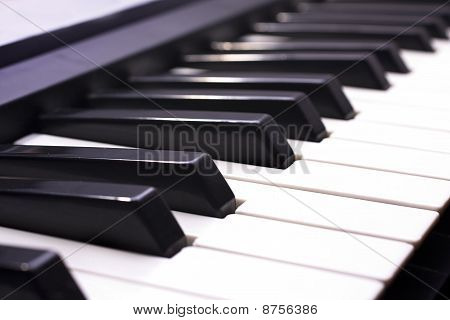 Piano Key Close Up Shot