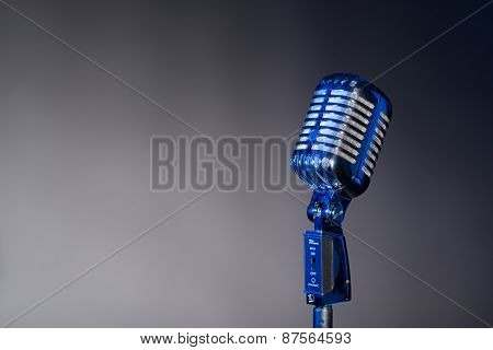 Old Fashioned Microphone With Space For Text