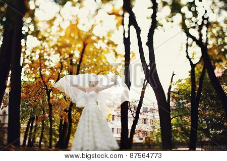 Mystical Portrait Of The Bride In The Forest