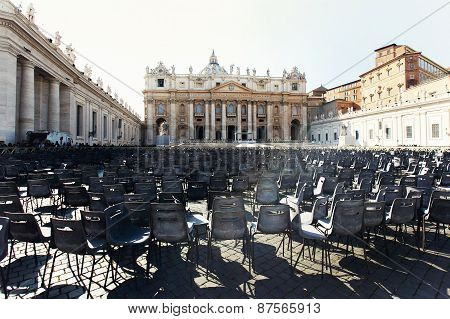 Chairs On The Area Of The Vatican