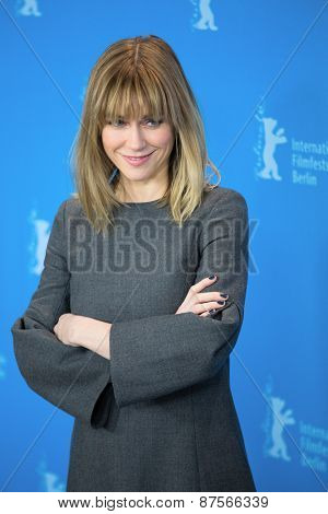 BERLIN, GERMANY - FEBRUARY 10: Marie Josee Croze attend the 'Every Thing Will Be Fine' photocall . 65th Berlinale International Film Festival at Hyatt Hotel on February 10, 2015 in Berlin, Germany