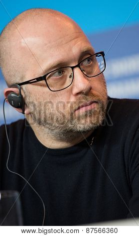 BERLIN, GERMANY - FEBRUARY 10: Artem Vasiliev attends the 'Under Electric Clouds' press conference during the 65th Berlinale International Film Festival at  Hyatt Hotel on February 10, 2015
