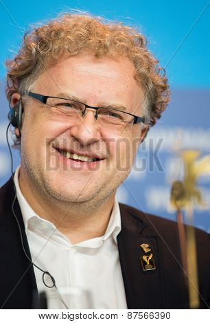 BERLIN, GERMANY - FEBRUARY 10: Dariusz Jablonski  attends the 'Under Electric Clouds' press conference during the 65th Berlinale International Film Festival at  Hyatt Hotel on February 10, 2015