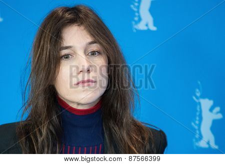 BERLIN, GERMANY - FEBRUARY 10:Actress Charlotte Gainsbourg attend the 'Every Thing Will Be Fine' photocall. 65th Berlinale International Film Festival at  Hyatt Hotel on February 10, 2015