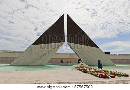 Monument To The Fighters Overseas In Lisbon, Portugal