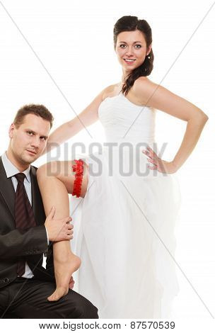 Sexy Bride With Handsome Groom.