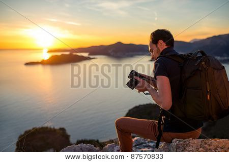 Photographer on the mountain