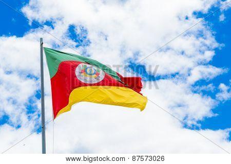 Rio Grande do Sul flag, Brazil
