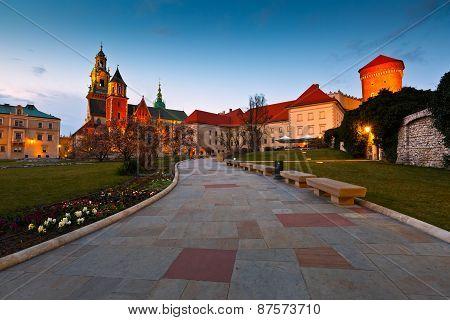 Wawel castle in Krakow.