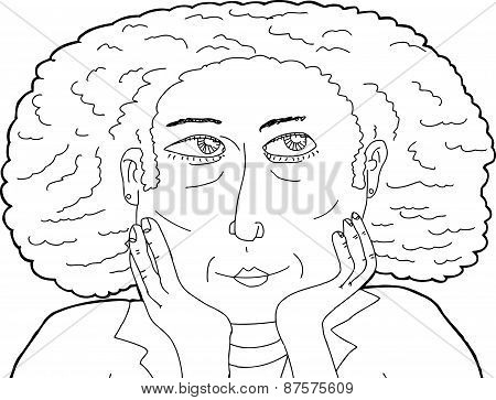 Outline Of Calm Woman