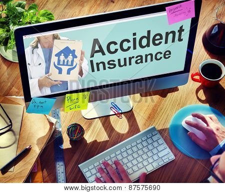 Accident Insurance Safety Healthcare Office Working Concept