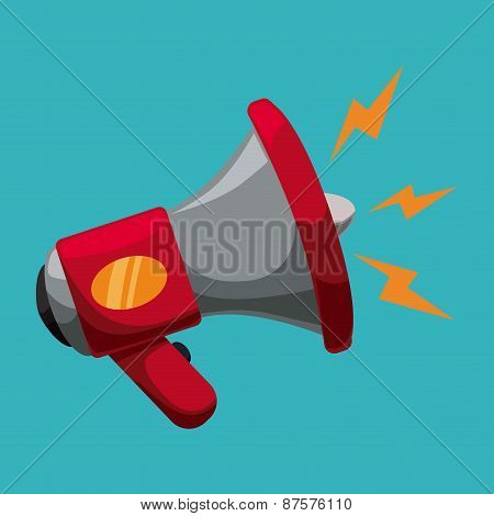 megaphone icon design vector illustration eps10 graphic