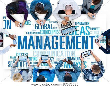 Management Vision Action Planning Success Team Business Concept