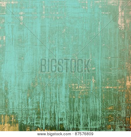 Old style detailed texture - retro background with space for text or image. With different color patterns: brown; green; cyan