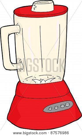 Red Glass Jar Blender