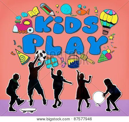 Kids Play Imagination Hobbies Leisure Games Concept