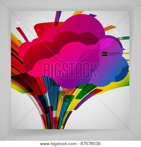 Abstract background with color design elements.