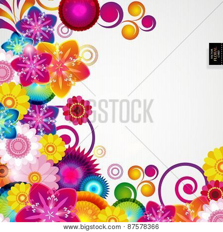 Gift festive floral design background.