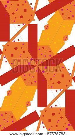 Abstract Red Helicopter Blades