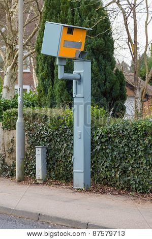 Typical Speed Camera In England