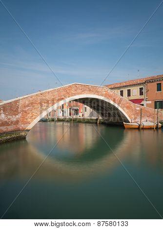 Old Bridge In Murano Italy