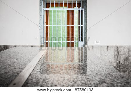 Barred And Colorful  Door