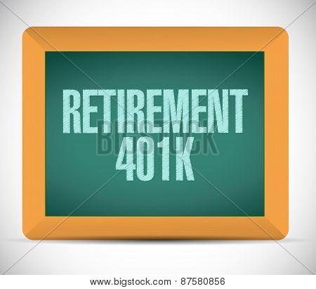 Retirement 401K Board Sign Concept