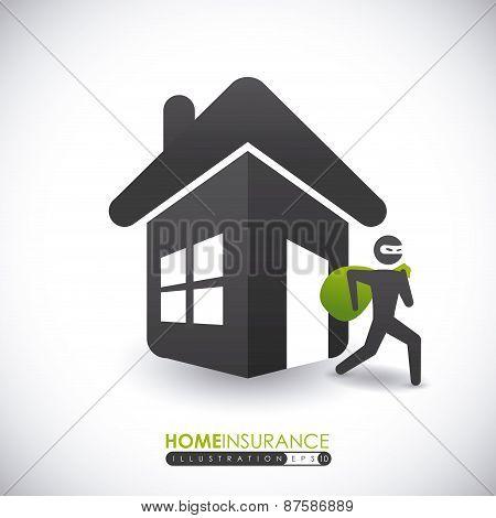 Home Theft Insurance design, vector illustration.