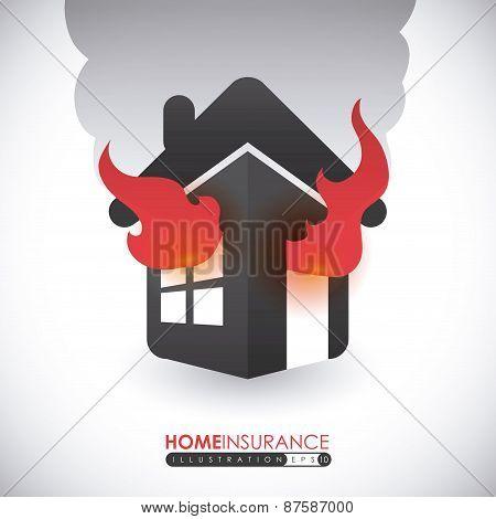 Home Fire Insurance design, vector illustration.