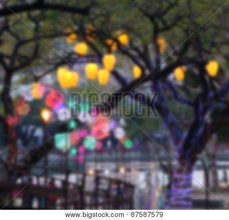 Colorful Lantern Blurred Background