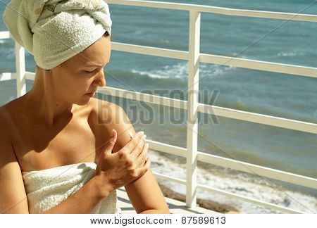 young woman caring