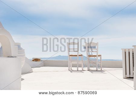 Two Chairs On The Terrace