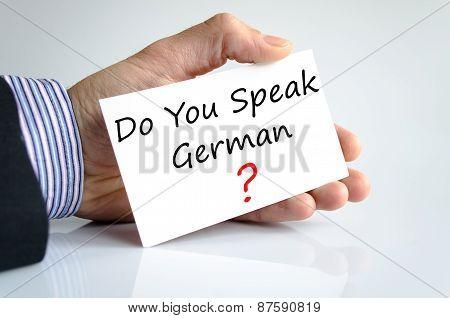 Do You Speak German Concept