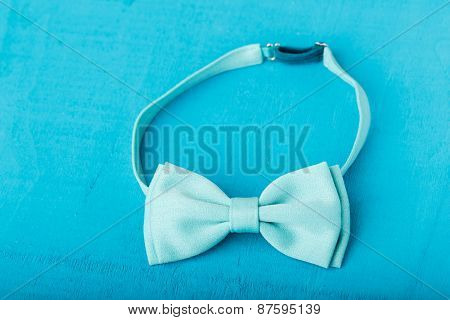 The blue bow-tie