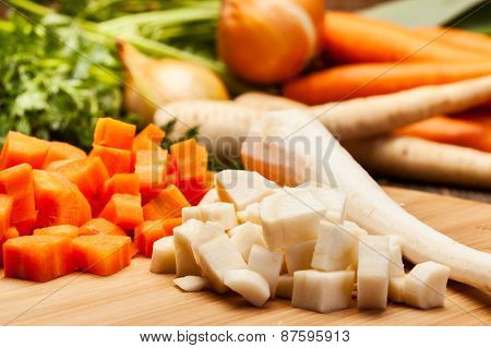 Fresh Chopped Vegetables