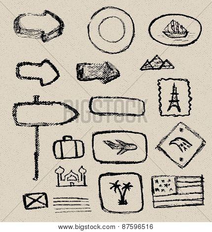 Vintage vector grunge elements