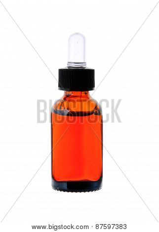 Bottle With Essence Oil Isolated On White