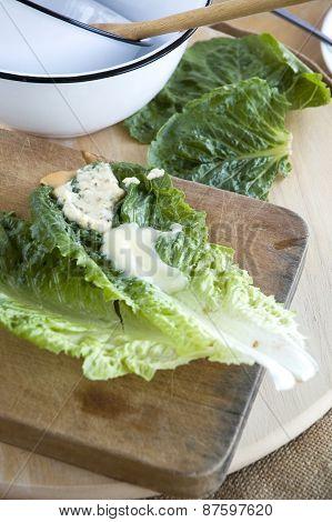 Lettuce On Cutting Board