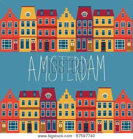 Cute Amsterdam houses set