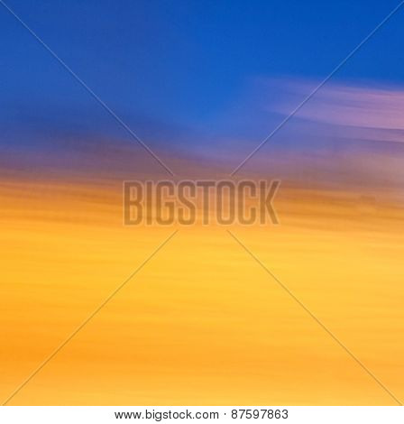 Blue And Golden Sunset