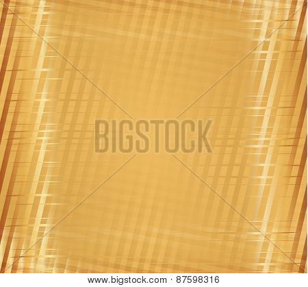 Yellow stripe plaid pattern
