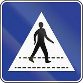 picture of pedestrian crossing  - Bruneian traffic sign - JPG