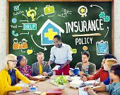 image of insurance-policy  - Diversity Casual People Insurance Policy Studying Policy Concept - JPG