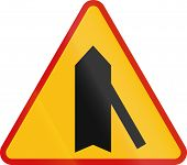 pic of intersection  - Polish danger warning sign - JPG
