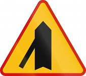 foto of intersection  - Polish danger warning sign - JPG