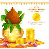foto of deepavali  - illustration of background for Akshay Tritiya celebration - JPG