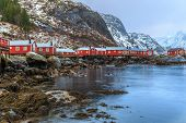 foto of lofoten  - Nusfjord is the oldest fishing village in Lofoten - JPG